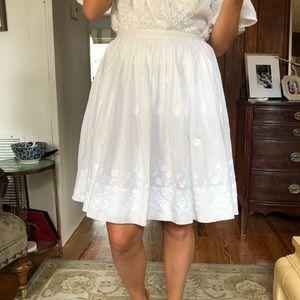 White BR eyelet skirt